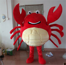 Hot red crab mascot cartoon costumes adult size film animation clothing