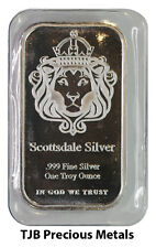 "1oz (TROY) Scottsdale MINT SILVER BAR 999.0 BELLE ARGENTO ""THE ONE"" DESIGN"