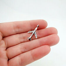 12 pcs  aircraft Tibet silver Charms Pendants DIY Jewellery Making crafts