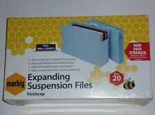 Marbig Expanding Suspension Files foolscap tabs inserts box 20 code 8300001 NEW