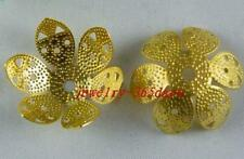 110 Silver/Gold/Bronze Plated Large Flower Bead Caps 24x11mm S142-S144