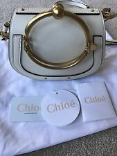 Chloe SS17 Spring 2017 Nile Small Bracelet Leather Crossbody Bag Off White
