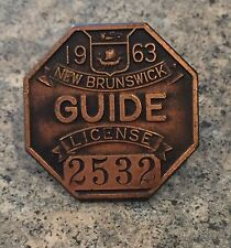 Rare Vintage New Brunswick Canadian Coat Of Arms Guide License Lapel Pin Badge