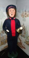 BYERS CHOICE CAROLER Salvation Army Man with Bell Kettle & Stand   *