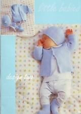BABY  reborn knitting pattern  moss st cardigan hat booties   prem 10 to 16 inch