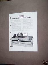 Van Norman Model 570 Decking Fixture Instructions