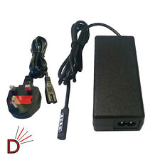 "45 W 12v casa pared cargador para Microsoft Surface 1 & 2 Windows Pro 10,6 ""Uk Plug"