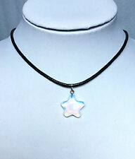 Fashion necklace opal necklace of star pattern with leather chain popular.