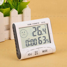 New Hot Outdoor Indoor LCD Digital Hygrometer Humidity Thermometer + Clock