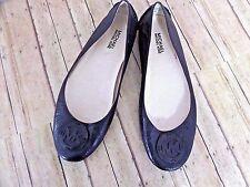 Michael Kors Women's Size 9.5M Black Ballet Flats Logo Buckle Worn Once In Mint