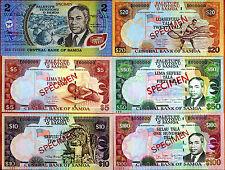 Specimen Set, Samoa, 2;5;10;20;50;100 Tala, ND (2002-2006), UNC