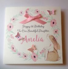 Personalised Bunny 1st Birthday Card Daughter Granddaughter Niece 2nd 3rd 4th 5t