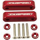RED JDMSPEED Hood Spacer Risers Set Kit For Acura Integra Honda Civic CRX