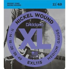 D'addario 10 Sets Pack EXL115 10P 11-49  Blues Jazz Rock Strings Nickel Wound