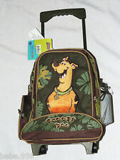 "SCOOBY-DOO SMALL  ROLLING CANVAS  BACKPACK WITH WATER BOTTLE 12 1/2"" X 9 1/2 """
