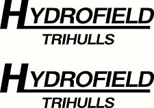 Hydrofield Trihulls Fishing Boat Sticker Decal Marine Set of 2