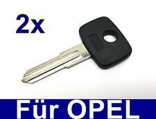 2x Remplacement ébauche de clef clé pour Opel Vauxhall Royale