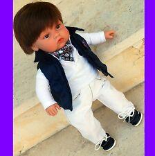 """MUÑECO BEBE DE VINILO MUÑECA 45cm BABY doll vinyl kit 17,72"""" preppy reborn"""