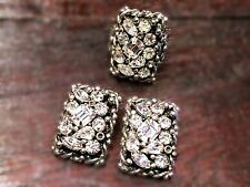 Vintage 1940s Clear Rhinestone Barclay Ring And Clip Earrings