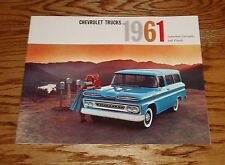 1961 Chevrolet Truck Suburban Carryalls & Panels Sales Brochure 61 Chevy