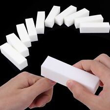 10Pcs Buffing Sanding Buffer Block Files Acrylic Manicure Nail Art Tips White
