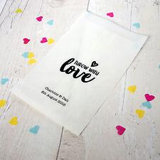 """10x personalizzata """"THROW CON AMORE"""" confetti sacchetti per matrimoni, feste, favorisce"""
