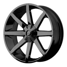 4-NEW KMC KM651 Slide 20x8.5 5x114.3/5x127 +38mm Gloss Black Wheels Rims