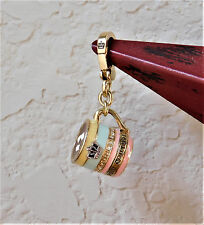 JUICY COUTURE Gold Plated with Enamel Hot Chocolate with Marshmellows Charm
