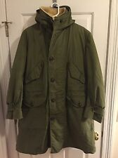 Vintage Military Air Force 1951 Overcoat Parka Korean War issue jacket M Army