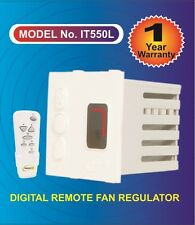 Digital Remote control 4 Step Humming Free Fan Regulator