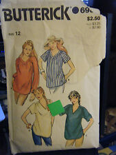 Vintage Butterick 6982 Misses Maternity Top Pattern - Size 12