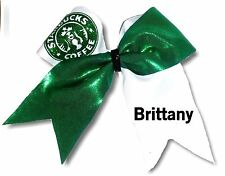 Customized  Starbucks Mystique Spandex  Cheer Hair Bow