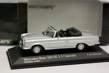 Minichamps 1/43 - Mercedes 280 SE 3.5 Cabriolet Grise