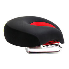Cycling MTB Bike Bicycle Seats PU Leather Saddles Road Noseless Comfort Cushion