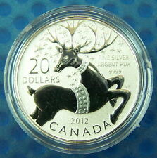 Canada 2012 $20 Magical Reindeer--Pure .9999 Silver Coin
