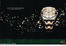 Publicité Advertising 2011 (2 pages) La Montre Rolex Datejust Special Edition