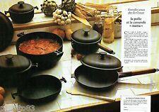 PUBLICITE ADVERTISING 106  1973  Le Creuset  la poele & la casserole Mama ( 2pag