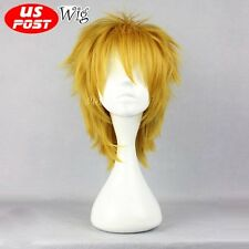 League of Legends LOL Ezreal 30CM Short Yellow Blonde Fashion Anime Cosplay Wig