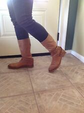 Alberto Fermani Tan Italian Leather Boots Sz 9 EU 39 Neiman Marcus- Super Soft!