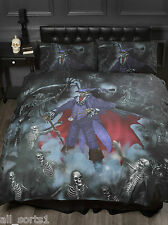ALCHEMY GOTHIC SKULLS SKELETONS BLACK MAGISTUS KING SIZE DUVET COVER SET