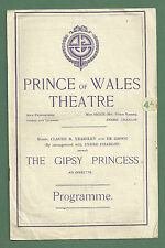 "1921 PRINCE OF WALES THEATRE PROGRAMME ""THE GIPSY PRINCESS"""