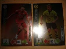 Panini liga de campeones 12/13 2 x fans favourites fútbol tarjetas de colección v3