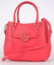 NEW TORY BURCH CARNIVAL RED LEATHER CLASSIC HANDLE AMANDA HOBO PURSE BAG