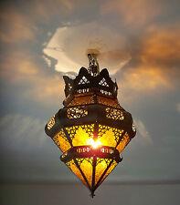Lustre Marocain plafonnier lampe lanterne applique décoration orientale orange !