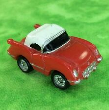 Micro Machines Vehicle Car Lot 1955 CHEVY CORVETTE COUPE Red White Top Sports