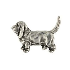 Basset Hound, silver covered pin, high qauality Art Dog Ca