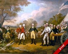 AMERICAN REVOLUTION SURRENDER OF GENERAL BURGOYNE OIL PAINTING ART CANVAS PRINT
