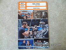 CARTE FICHE CINEMA 2011 REAL STEEL Hugh Jackman Dakota Goyo Evangeline Lilly