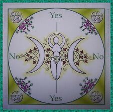 Green Goddess Scrying/Dowsing Mat ideal for use with a pendulum Wicca divination