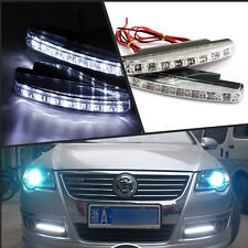 2x Car 8 LED Euro Daytime Running Light DRL Daylight Fog Lamp Day Lights For BMW